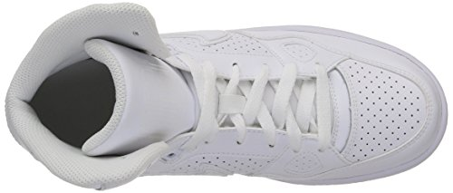 Nike Of Force Mid (GS) Zapatillas de Baloncesto, Niños Blanco (White / White-White)