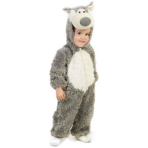 Princess Paradise Baby Boys' Big Bad Wolf Deluxe Costume, Grey/White 6-12 -