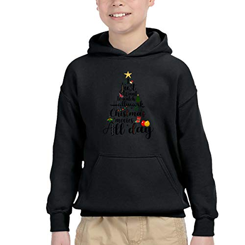 I Just Want to Watch Hallmark Christmas Movies All Day 5 Boy Hoodies Pullover