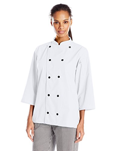 Uncommon Threads Unisex Epic 3/4 Sleeve Chef Shirt, White, X-Large