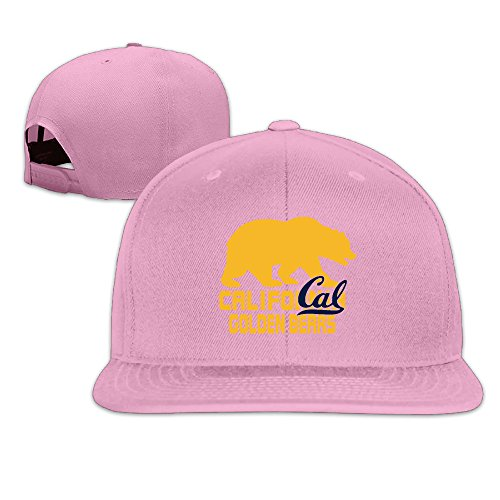 [ElishaJ Flat Bill California University Berkeley Trucker Caps Pink] (Raptors Mascot Costume)