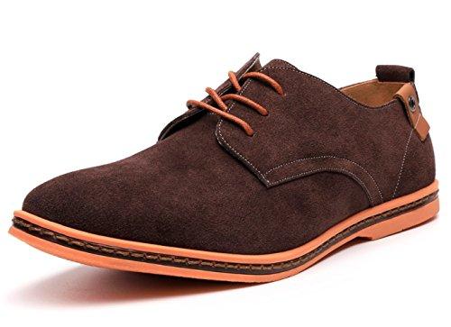 10007 DADAWEN stringate Scarpe uomo Brown Multicolore zaqYva