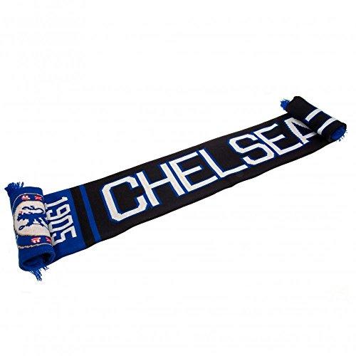 ec7acc29293 CHELSEA FC Official Blue Black White Jacquard Scarf NR Knit 1905