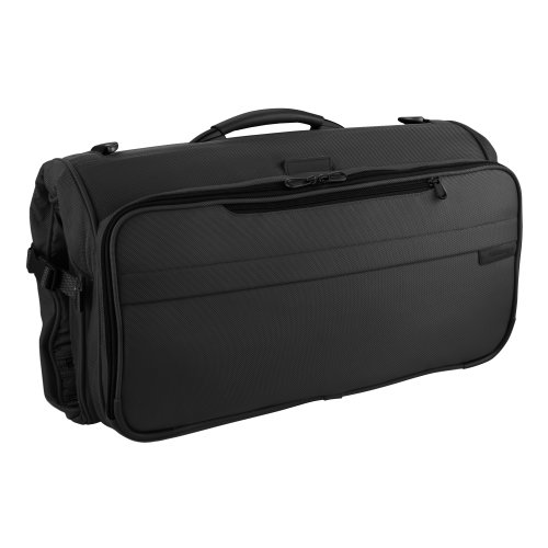 Garment Tri Bag Lightweight Fold - Briggs & Riley Baseline Compact Tri-Fold Garment Bag,Black