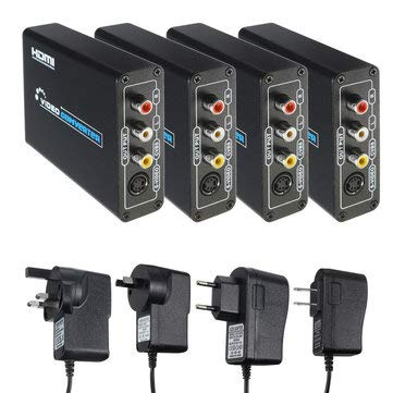 - Home Audio & Video HDMI & Video Accessories - to 3 AV CVBS Composite & S-Video R/L Audio Converter Adapter - EU Plug - 1 x HD to 3 RCA Adapter 1 x Power Supply 1 x AV Cable