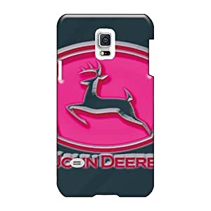 JacquieWasylnuk Samsung Galaxy S5 Mini Shock Absorbent Cell-phone Hard Cover Customized Attractive John Deere Pink Image [tfJ3206CZUH]