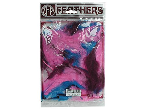 Zucker Feather (TM) - Loose Turkey Marabou Mix Dyed - (0.25 Ounce Roll)
