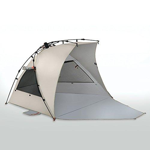 Terra Nation Reka Kohu Plus Extended Floor Beach Tent - 3 Person - 98% UV Protection (UPF 50+) (Tan)