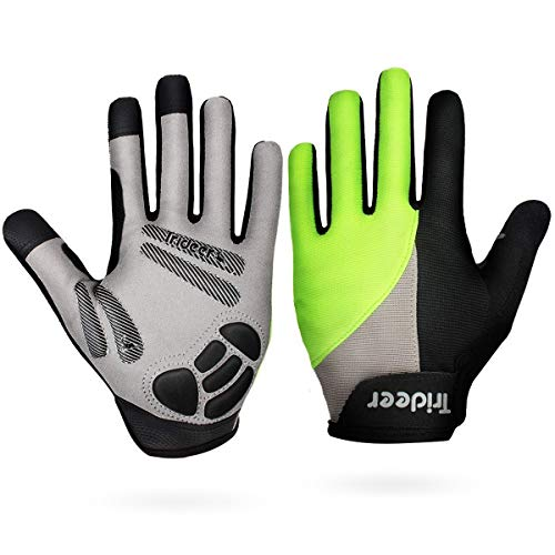 Trideer Padded Full Finger Cycling Gloves