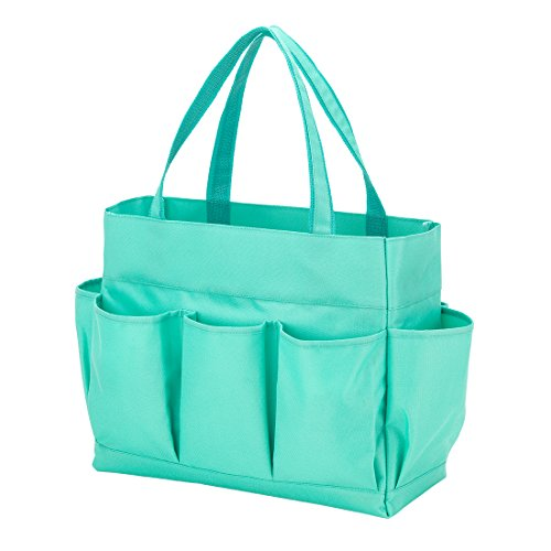Carry All Tote Bag with 7 Outside Pockets Custom Embroidery (Multi Pocket Tote)