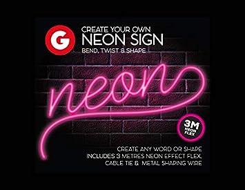 Faites vos propres neon effet led applique murale sign barre de