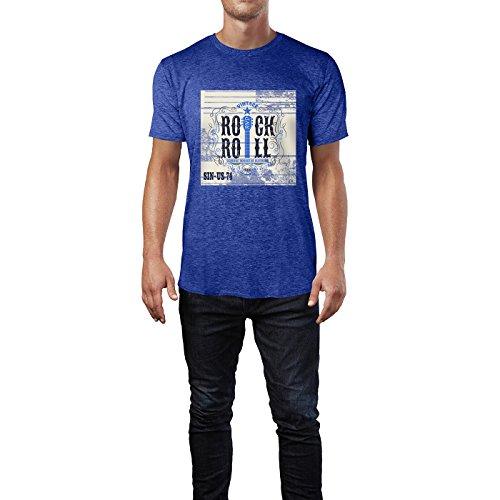 SINUS ART® Rock 'n' Roll 1966 Herren T-Shirts in Vintage Blau Cooles Fun Shirt mit tollen Aufdruck