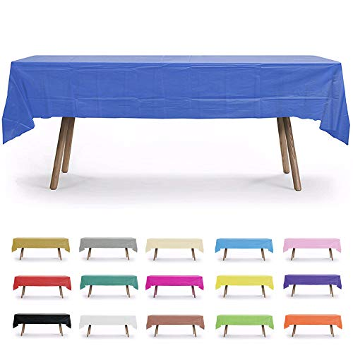 54x108 Rectangle Plastic Table Covers - 6