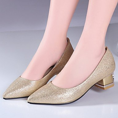 Silver Gold Pointed US9 Zormey Heels CN41 Chunky Dress Toe Office Shoes Red EU40 Heel Glitter amp;Amp; UK7 Women'S Career fqf6wgO