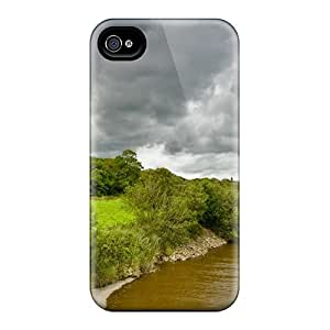New Arrival Case Cover With NVz2449SYdG Design For Iphone 4/4s- Cardoness Castle By A River