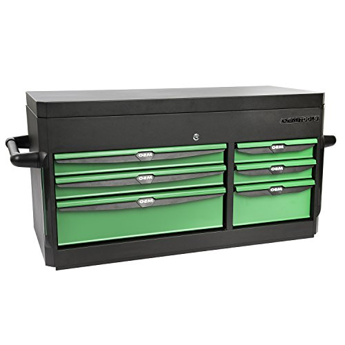 """OEMTOOLS 24594 Black and Green 41"""" 6 Drawer Top Chest"""