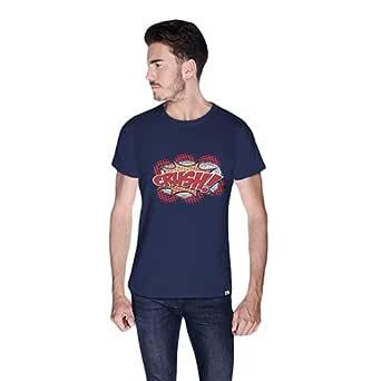 Cero Crush Retro T-Shirt For Men - M, Navy Blue