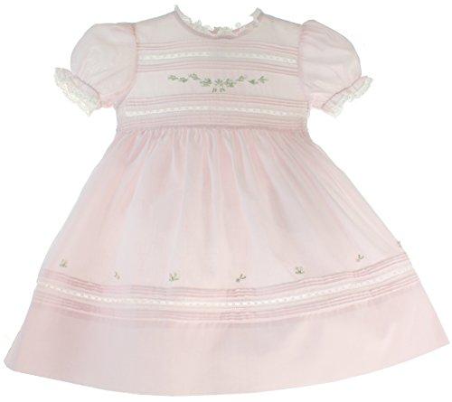 Feltman Brothers Toddler Girls Pink Heirloom Dress Floral Bullions (Pink Heirloom Dress)