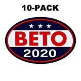 Crazy Novelty Guy (10-Pack) Oval Campaign Magnets - Beto O'Rourke 2020 - Democrat Party President (Beto 2020) - Magnetic Bumper Stickers - 6' x 4'