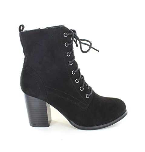 Urban Heels Women's Black Ankle Booties 7.5 US