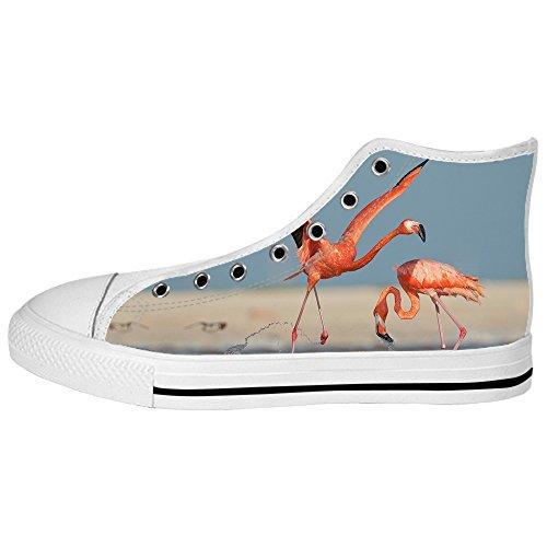 Canvas I Custom Alto Women's Lacci Shoes Modello Flamingo Scarpe Delle Ginnastica Tetto Da qWttAPX