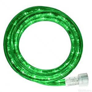 Queens of Christmas C-ROPE-LED-GR-1-10-18 Spool of LED Rope Light, 18', Green