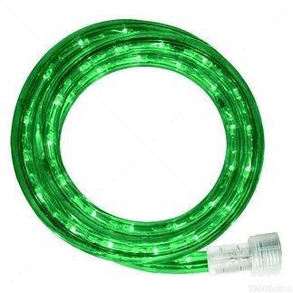 Queens of Christmas C-ROPE-LED-GR-1-10-18 Spool of LED Rope Light, 18', Green - C 6 Christmas Light