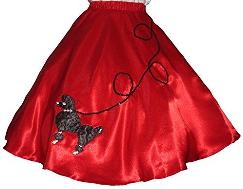 3 BIG NOTES - Adult SATIN Poodle Skirt Size Medium (30