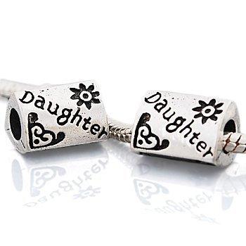 """Andante-Stones perle Argent 925 """"Daughter"""" Élément bille pour perles European Beads + Étui en organza"""