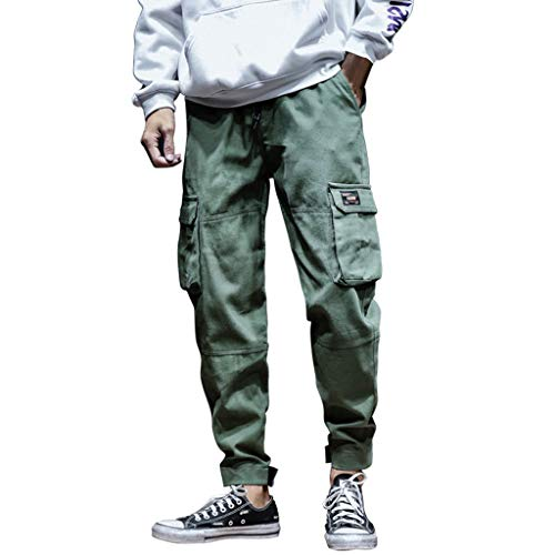 Willsa Mens Swimsuit, Autumn Winter Fashion Casual Overalls Slack Small Feet Trousers Loose Pants ()