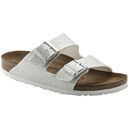 Birkenstock Unisex Arizona Birko-Flor White Sandals 8 W / 6 M US