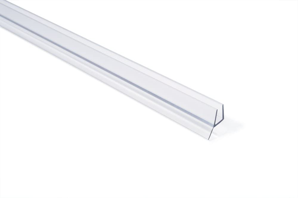 Clear 98-Inch Showerdoordirect 14DDBS98 Long Frameless Shower Door Seal for 1//4 Glass