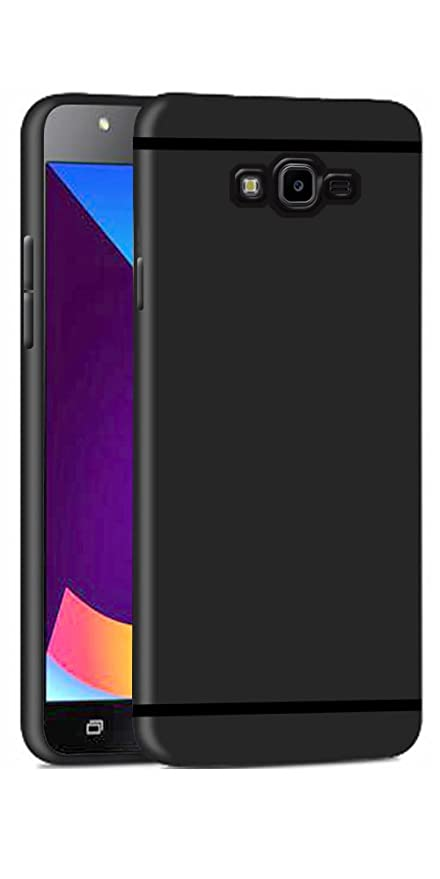 huge discount 95fe7 bad7a DigiPrints Sleek Matte TPU Rubberized Back Case Cover Black with Shining  Line with all Sides Protection for Samsung Galaxy J7 Nxt