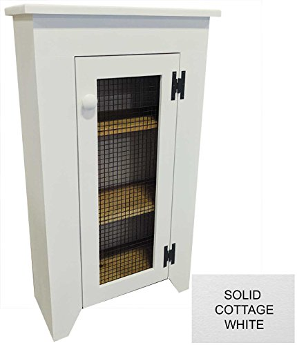 Narrow Cabinet with Screen Door (Solid Cottage White)
