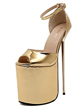GGX/ Zapatos de mujer-Tacón Stiletto-Tacones-Tacones-Casual-PU-Plata / Oro , golden-us6 / eu36 / uk4 / cn36 , golden-us6 / eu36 / uk4 / cn36
