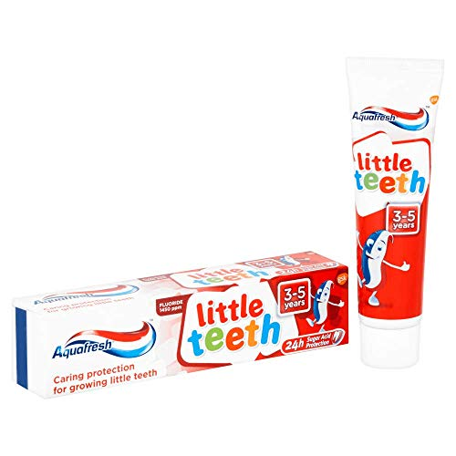 Aquafresh Kids Toothpaste Milk Teeth 3 to 5 Years 75 ml - Triple Protection with Mint Flavor- Child's Teeth Care - Netherlands