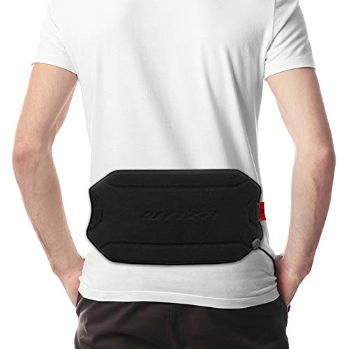 lim and Lightweight Heated Pad, Heating Waist Belt Wrap/Lower Back Heat Therapy, for Pain Relief of Abdominal Stomach Lumbar Muscle Strain, for Men and Women, Black ()