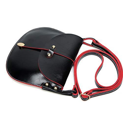 Pu Bolso Messenger Mujer Rivet Magnética Bolsos Bags Crossbody Bolso Bolsas WanYangg Pequeño De Negro Mujeres Cuero Hombro De Hebilla 6wR6Y