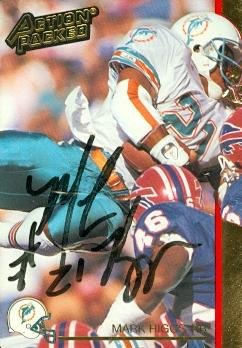 Mark Higgs autographed Football Card (Miami Dolphins) 1992 Action Packed -