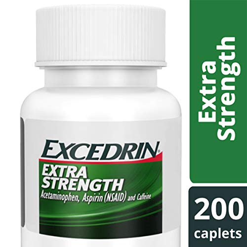 Excedrin Extra Strength Caplets for Headache Pain Relief, 200 Count (Pack of 1)