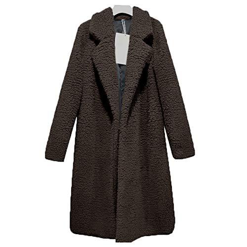 Women's Long Cardigans Cozy Faux Fur Coat Winter Warm Open Front Fleece Fluffy Jacket Coat Outwear BR S