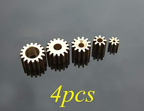 Hockus Accessories 4PCS Copper Pinion DIY Model Motor Metal Gear Pinion 7/8/9/10/12/14/15/16T Diameter 5/5.5/7/8/8.5/9mm 0.3/0.4/0.5M - (Color: 122A)