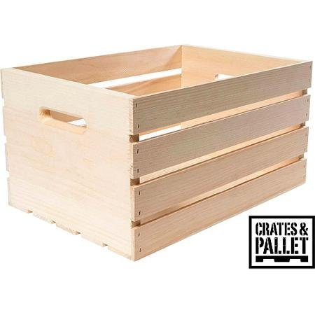 Crates and Pallet - Large Wood Crate - 18in x 12.5in x 9.5in by Candysweet