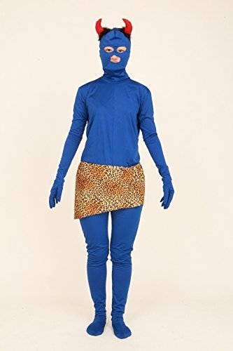 Female Loincloth Costume (Cosplay blue (angle + loincloth of demon) blue demon costume Zentai three-piece set (SS01-2H + angle + RM100) Women size M (japan import) by Fun Club)