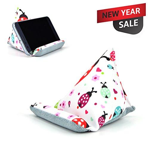 Fabric Phone Stands,Phone Pillow Holder for iPhone 8 ,Phone Sofa Bean Bag Cushion (Ladybird)