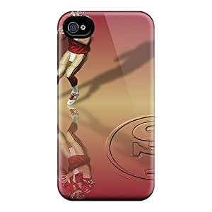 Protective Hard Phone Cover For Iphone 4/4s (RCy12999cYRQ) Unique Design Realistic San Francisco 49ers Pictures