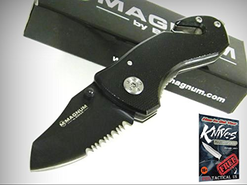 New Boker Magnum - BOKER MAGNUM Black COMPACT RESCUE Knife 01MB456 New! + free eBook by ProTactical'US