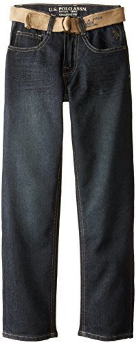 Belted Embossed Jeans (U.S. Polo Assn. Big Boys' Belted Jeans, Berkeley Wash,)