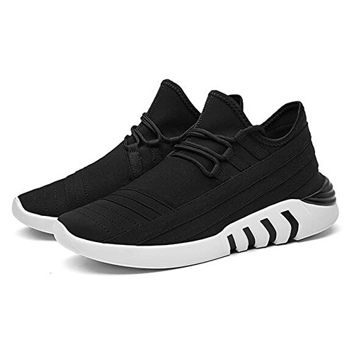 Men's Shoes Feifei Spring and Autumn Movement Leisure Thick Bottom Running Shoes 2 Colours(Size Multiple Choice) (Color : 01, Size : EU43/UK9/CN44)