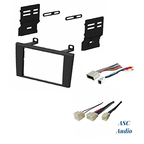 ASC Car Stereo Dash Install Kit and Wire Harness for Installing an Aftermarket Double Din Radio for some 2002 - 2005 Ford Thunderbird , 2000 - 2006 Lincoln LS